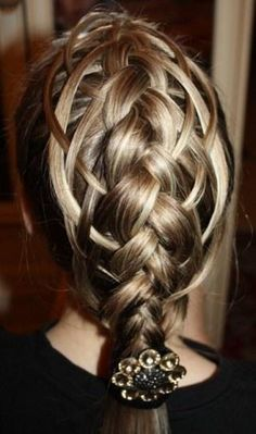 Braid - not sure this one would fall so perfectly - but could be fun to try!