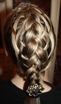french braids, hair style, hair crush, pretti, awesom braid