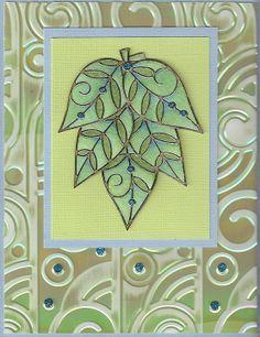elizabeth craft designs | Elizabeth Craft Designs used the Elegant Leaf peel-off to create this ...