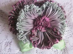 French Ombre Millinery Ribbon Pansy Flower Pin Ribbonwork   eBay