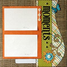 Premade Scrapbook Page 12 x 12  Layout  Moments by designstudioL