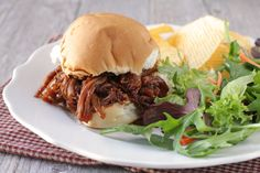 21 day fix -Slow Cooker Pulled Pork BBQ recipe: Yield: 4 servings Fix Portions (per serving): 1 red, purple, green, 1 yellow (if served open-face; 2 if served on whole bun; 0 if served bunless) Pork Ham, Bbq Pork, Pulled Pork, Barbecue, Barbeque Sauce, Fried Pork, Pork Roast, Pork Recipes, Sauce Recipes
