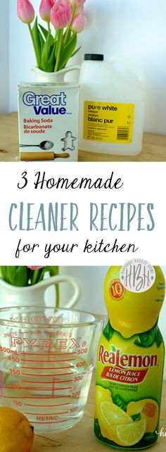 3 HOMEMADE CLEANERS