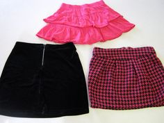 Girl Skirts 10/12 Cherokee Expressions Total Girl Pink Black Lot 3 CLEARANCE