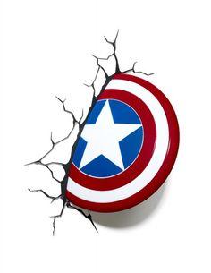 Lampada Applique Capitan America Avenger 3D da parete con Adesivi Lampade per Bambini cameretta - TocTocShop.com - Fantastico per i Bambini, Imbattibile nei Prezzi