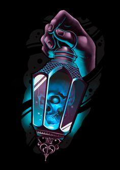 Tattoo Design Drawings, Tattoo Sketches, Tattoo Designs, Tattoo Studio, Skull Rose Tattoos, Lantern Tattoo, Dark Art Tattoo, Psychedelic Drawings, Totenkopf Tattoos