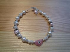 Handmade Kids' Ivory and Pink Freshwater Pearls by urbaneprincess