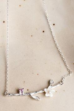 #AdoreWe #Dezzal Dezzal Chic Flower Tree Branch Necklace - AdoreWe.com