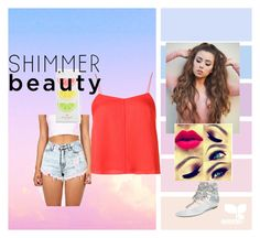 """""""Shimmer beauty"""" by onlinegirl-diii on Polyvore featuring T By Alexander Wang, René Caovilla and Kate Spade"""