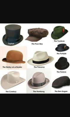Mais chapéus para colecionar.