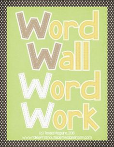 Word Wall Word Work- activities to reinforce ANY word wall words. 3 pages free!
