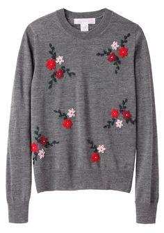 Comme des Garçons Shirt Girl  Floral Embroidered Pullover