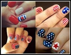 Image detail for -Colorful Nails | 4th of July nails - these might be the most...