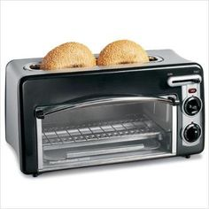 This Hamilton beach Toastation compact toaster and mini oven saves on counter space and makes your snack-time quick and efficient. This black toaster/mini-oven combo will match your kitchen decor flawlessly. Mini Toaster, Black Toaster, Toaster Ovens, Cheap Toaster, Retro Toaster, Countertop Oven, Countertops, Small Kitchen Appliances, Houses