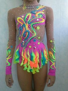 Photo: Rhythmic Gymnastics Costumes, Gymnastics Suits, Dance Moms Costumes, Dance Outfits, Gym Leotards, Aerial Silks, Figure Skating Dresses, Ballroom Dress, Halloween Disfraces