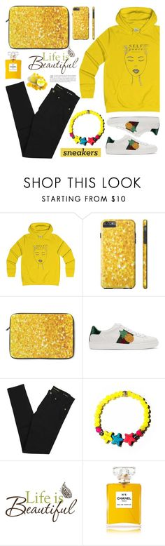 """""""Life is beautiful! (40)"""" by samra-bv ❤ liked on Polyvore featuring Gucci, Yves Saint Laurent, Brewster Home Fashions and Chanel"""