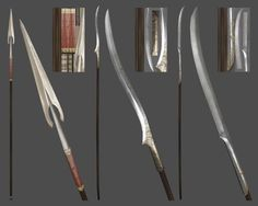 elf swords and spear