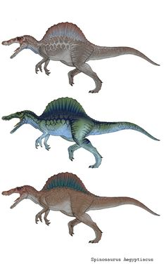Old concept of spinosaurus. Based on JP3 spino concept art, with different coloration.