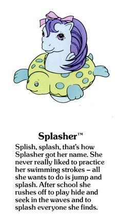 My Little Pony Splasher fact file ...