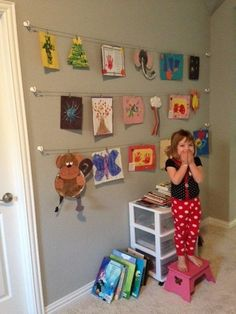 Designer Inspired Art work/Picture hanging Kit.Great for displaying pictures, memos, to-do lists, kids art work, stray socks,  inspirational quotes, goals...the possibilities are endless. Clean that clutter off your counter and organize! Great to hang near your command center, laundry room, play room/kids room, home office, etc.Also great for displaying all those high school dance pictures, or hang in a dorm room!Easy to hang with little impact to walls. Use small nails, hooks or d...