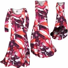 Customizable Maroon Red Naga Marshes Slinky Print Plus Size & Supersize Standard or Cascading A-Line or Princess Cut Dresses & Shirts, Jackets, Pants, Palazzo's or Skirts Lg to 9x  http://sanctuarie-net.stores.yahoo.net/necumarednam.html