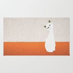 cat doll Rug by SEVENTRAPS | Society6