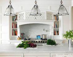 White kitchen. Design: Allison Caccoma. #white #kitchen