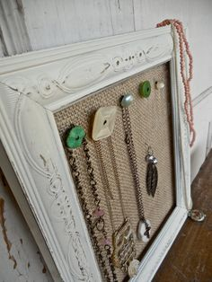 Vintage buttons and frames- organize your jewelry with humble bee project's Vintage Flair Jewelry Displays