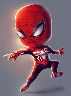 Miles Spiderman, Spiderman Spider, Amazing Spiderman, Chibi Marvel, Marvel Art, Marvel Heroes, Marvel Comics, Baby Superhero, Cute Disney Wallpaper