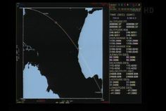 A computer screen shows the trajectory of NASA's LADEE moon mission a few minutes after it lifted off from Virginia on Sept. 6, 2013. [Read the Full Story Here]