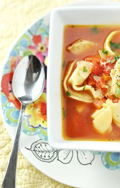 I know it's been pinned before, but ... well here's another recipe--> Vegetarian_Cheese_Tortellini_Soup_2