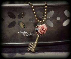 Antikbronze Vintage Kette Schlüssel mit von byschmuckesLaedchen