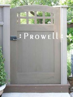 Prowell Woodworks' Premier Garden Gate #20 - B loves this chunky craftsman style.  Looks like the gates he has built. #gardengates