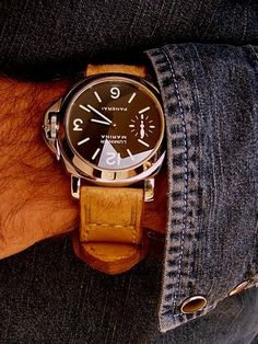 "Gunny Straps  Handmade Straps, Panerai Luminor Marina goes in the book with all other ""ultimate man gifts"""