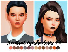 I love make up in real life and I mostly use neutral shades (I love oranges!) So here is some new eyeshadows for you guys! I hope you will like them :) • BGC • 14 swatches DOWNLOAD