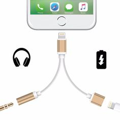2 в 1 Для apple iphone 7/iphone7 Плюс Адаптер Для Наушников разъем USB Зарядки Зарядное Устройство AUX Кабель Освещения до 3.5 мм Женский конвертер