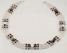 Art Deco Necklace/ Sterling Silver Chain/ by LLDArtisticJewelry, $250.00