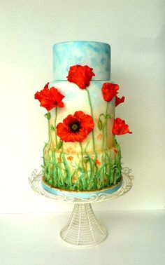 cool wedding cake...that uses your colors