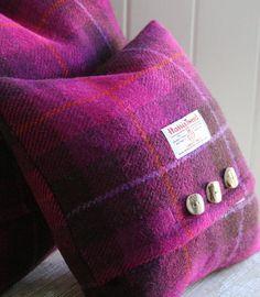 Wild Foxglove Harris Tweed Cushions