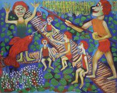 Fishing/Maarit Korhonen, acrylic, cancas, 73cm x 92cm Dark Paintings, Original Paintings, Online Painting, Artwork Online, Dancer In The Dark, Autumn Painting, Original Art For Sale, Artists Like, House Painting