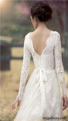 Wedding Dress with Sleeves  - Attire Inspiration
