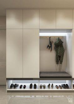 Entryway and Hallway Decorating Ideas eingang Stauraum