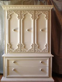 Annie Sloan Painted Armoire | ... Annie Sloan Chalk Paint / Annie Sloan Off White Chalk Paint Armoire. $