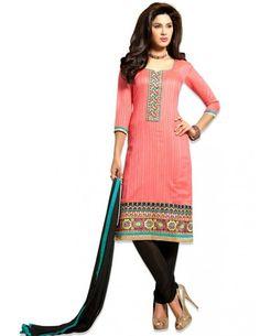 Enchanting Chanderi Silk Kameez. http://www.bharatplaza.com/new-arrivals/salwar-kameez.html