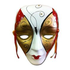 """Colorful Porcelain Wall Decor Beauty Mask LG by Asian Home. $12.65. """"L7.5"""""""" x H10"""""""" x D2"""""""""""". This mask is made of porcelain with very colorful beauty painting. It has two silk ties for easy wal. This mask is made of porcelain with very colorful beauty painting. It has two silk ties for easy wall hanging. Very unique wall decor art.L7.5"""" x H10"""" x D2"""""""
