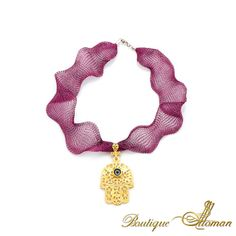 Hand of Fatima Necklace by Boutique Ottoman www.BoutiqueOttoman.com #jewelry #necklaces #ottoman