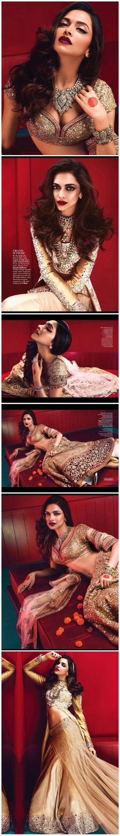 Here's an exclusive look at Deepika Padukone on the June cover of VOGUE India. Especially love the second image. Indian Celebrities, Bollywood Celebrities, Bollywood Fashion, Bollywood Actress, Bollywood Makeup, Bollywood Jewelry, Deepika Padukone, Indian Dresses, Indian Outfits