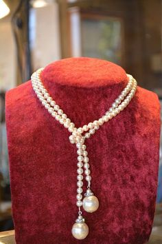 Antique 1920s luxury pearl necklace jewelry by JeanneDanjouJewelry