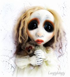 Loopy ooak Gothic Art Doll Ghost of Christmas Past Grace