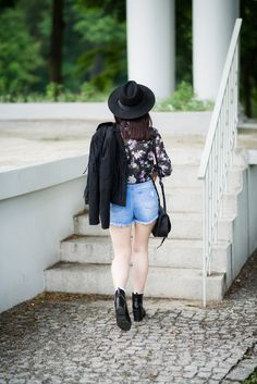 #denim #hat #boho #shorts #skinnylegs #bohostyle #grunge